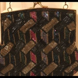 Hand Beaded Vintage 50's Handbag